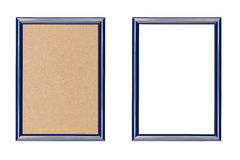 Blue plastic picture frame Stock Images