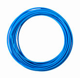 Blue plastic pvc pipes Royalty Free Stock Photography