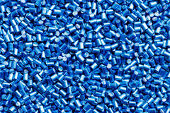 Blue plastic resin  Masterbatch  background Stock Image