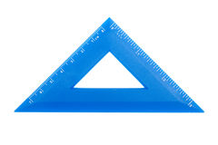 Blue plastic ruler Stock Photography