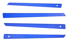 Blue plastic ruler Royalty Free Stock Photography