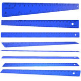Blue plastic ruler Stock Photos