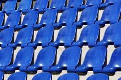 Blue plastic seats Royalty Free Stock Photo