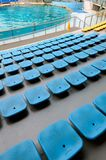 Blue plastic seats Stock Photos