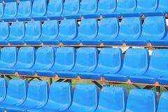 Blue Plastic Seats Royalty Free Stock Photos