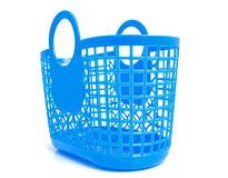 Blue plastic shopping bag Stock Photography