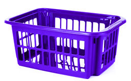 Blue plastic storage box Stock Photo