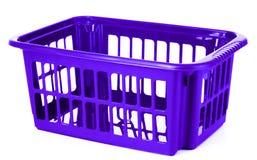 Blue plastic storage box Stock Photo