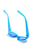 Blue Plastic Sunglasses Royalty Free Stock Images