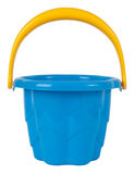 Blue plastic toy bucket Stock Image