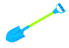 Blue plastic toy shovel Royalty Free Stock Photography