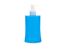 Blue plastic tube with shampoo isolated Royalty Free Stock Image