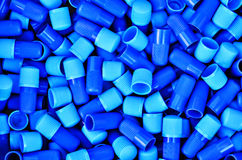 Blue plastic tubes Royalty Free Stock Photography