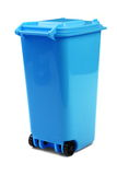 Blue Plastic Waste Container Or Wheelie Bin, Isolated On White Royalty Free Stock Photo