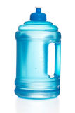 Blue plastic water bottle Royalty Free Stock Photo