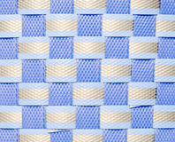 Blue plastic wicker Stock Photography