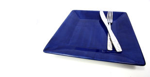 Blue plate Stock Image