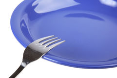 Blue plate Royalty Free Stock Photo