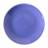 Blue Plate Isolated On White Stock Photos
