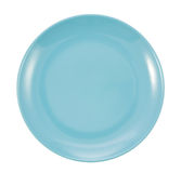 Blue plate isolated. On white background Royalty Free Stock Photography