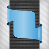 Blue plate with metallic column Royalty Free Stock Images