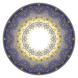 Blue plate ornament Stock Image