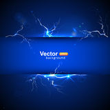 Blue plate under voltage Royalty Free Stock Photography