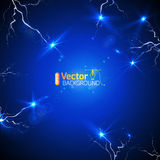 Blue plate under voltage Royalty Free Stock Photo