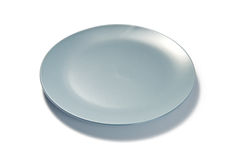 Blue Plate on white background Stock Photo