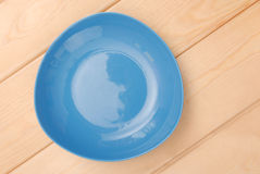 Blue plate Royalty Free Stock Photography