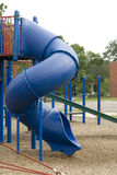 Blue playground slide Stock Photo