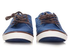 Blue plimsolls Royalty Free Stock Photo