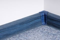 Blue plinth. It is a blue plinth in home interior royalty free stock image