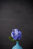 Blue plumbago flowers in vase Royalty Free Stock Photo