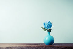 Blue plumbago flowers in vase Royalty Free Stock Photos