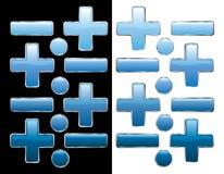 Blue plus Royalty Free Stock Photos