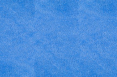 Blue plush terry texture Stock Photos