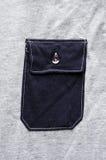 Blue pocket Stock Image