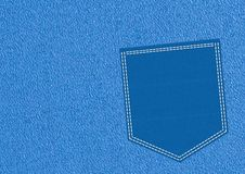 Blue pocket Royalty Free Stock Photos
