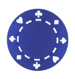 Blue Poker Chip Stock Photos