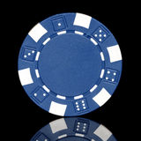 Blue poker chip stock images