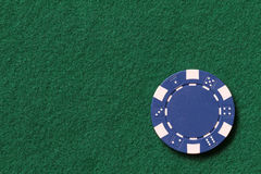 Blue poker chip royalty free stock photography