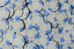 Blue Poker Chip Background Stock Photo