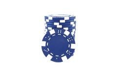 Blue poker chips Stock Photos