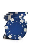 Blue Poker Chips Royalty Free Stock Image