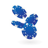 Blue Poker Chips royalty free illustration