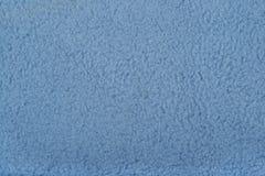 Blue polar fleece background texture Royalty Free Stock Photography
