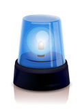 Blue Police beacon. Vector illustration background Stock Image
