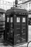 Blue Police Call box at Earls Court - known from Dr Who - LONDON - GREAT BRITAIN - SEPTEMBER 19, 2016 Stock Photo