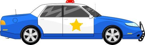 Blue police car vector Stock Photos